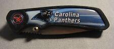 CAROLINA PANTHERS NFL ABSTRACT LOGO SKY BLUE FOLDING POCKET KNIFE
