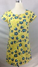 True Vintage Floral Scooter Mini Dress Mod 60S Yellow Blue Med Flowers Shift