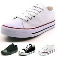 Fashion New Mens Classic Lace Up Canvas Shoes Athletic Sneakers Casual Size