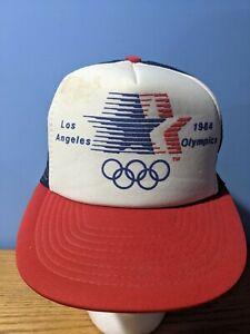 Vintage 1984 Los Angeles Olympics Snapback Foam Trucker Hat