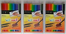 Marvy Le Plume II Markers PRIMARY Double Ended Set of 12 pc NEW 1122-12A 3 PACKS