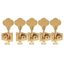 Bass Tuners 5 String Guitar Tuning Pegs Keys Machine Heads Open Gear 4R1L Gold