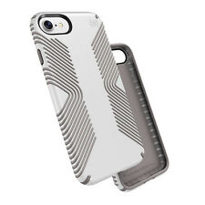 Speck Presidio Grip Enhanced Impact Protection Case for iPhone 7 - White/ash GRE