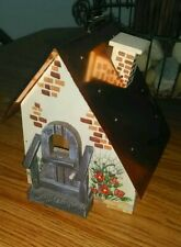 Birdhouse ~ Decorative Handcrafted Wood & Tin ~ Brand New! *