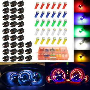 30 Set Car T5 LED Twist Socket Instrument Panel Cluster Plug Dash Light mix Bulb