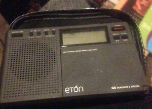 Eton GB Traveler II Digital - portable battery radio with alarm & world times