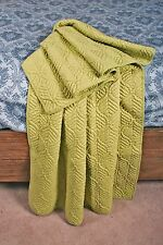 Quilt Throw Piper Green Dove Tail Leaf Lap Blanket
