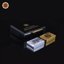 WR US $100 Dollar Bill 24K Gold & Silver Poker Playing Cards 2 Decks in Gift Box