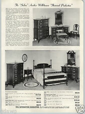 1943 PAPER AD Sherwood Salem Bedroom Furniture Cherry Mahogany Wood