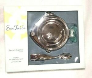 Reed & Barton Seatails Fish Bowl And Whale Feeding Spoon