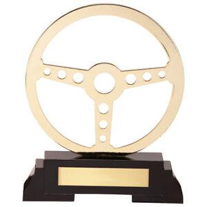 Arcadia Steering Wheel Metal Trophy Award 190mm FREE Engraving