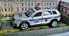 SKODA KODIAQ. Metallmodell. Russische Polizei. Trägheitsmechanismus. 1:53