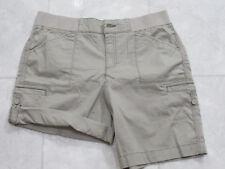 NWT Khakis & Company Womens Convertable Length Shorts-Classic Khaki-14-MSRP-$39
