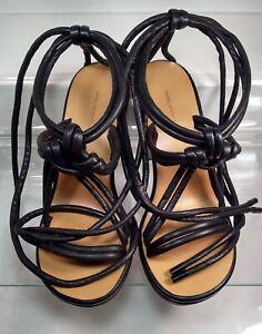 ISABEL MARANT Miana Tasman Heel Leather Rope Sandal US 9 EU40 Made in Italy