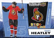 08-09 UPPER DECK COLLECTORS CHOICE STICK-UMS #UMS4 DANY HEATLEY SENATORS *8205