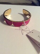 $88 KATE SPADE NEW YORK Resin Goldtone Scalloped Cuff Taking Shapes Pink #301