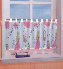 Kinderzimmer Scheibengardine Panneaux in weiss mit Prinzessin Motiv 50 x 150 cm