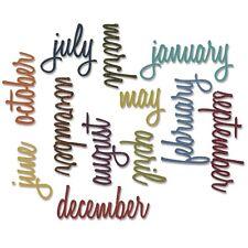 Sizzix Thinlits Dies 12/Pkg By Tim Holtz -Script Calendar Words