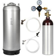 Stout Kegerator Kit: 5 Gal Ball Lock Keg, Nitrogen Tank & Regulator - SHIPS FREE