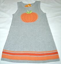 Gymboree Happy Harvest PUMPKIN Gray Jumper Sweater Dress 5T Girls NWT Halloween