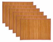 Treasure Co Trio Natural Bamboo Placemats (Set of 6, 12 in x 18 in) Environment