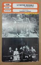 US sci-fi film The Invisible Ray Boris Karloff Bela Lugosi French Trade Card