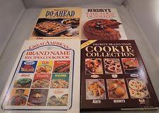 Cookbooks Hersheys Fabulous Dessert Cookie Collection Do Ahead Brand Name Lot/4