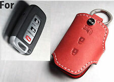 Handmade Italy Leather Smart car Key FOB case Holder /Hyundai KIA Santafe Accent