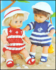 DOUBLE KNIT BABY PATTERN 12-20 INCHES NO:8611 JACKET WAISTCOAT AND HAT