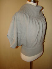 MY BELOVED GRAY BATWING COWL NECK SHORT SLEEVE FASHION SWEATER SIZE LARGE