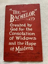 Vintage Red Postcard The Bachelor Widows Hope Of Maidens Comic