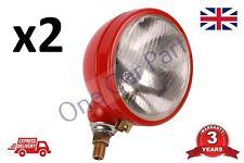 PAIR Ferguson TE20 TEA20 TED20 TEF20 Tractor Headlamp RED 2x