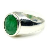 Echte Smaragd Sterling Silber Ring 5 Karat Fett Heilung Mai Birthstone Schmuck
