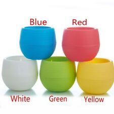 New Round Plastic Flower Bonsai Pot Plant Jar Home Garden Table Decor 7*6.5cm