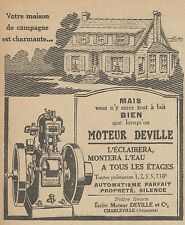 Z9798 Moteur DEVILLE -  Pubblicità d'epoca - 1923 Old advertising