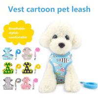 1 Pcs Pet Dog Puppy Vest Chest Strap Collar Lead Leash Traction Rope Harness