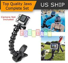 Jaws Flex Clamp Mount + Adjustable Neck for Gopro Hero 4 3 2 Camera Accessories