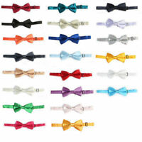Bow Tie Men Tuxedo Bowtie Mens Pre Tied Adjustable Solid Satin Classic Novelty