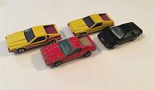 Hot Wheels Lot of 4 Delorean DMC-12 Diecast Model Cars