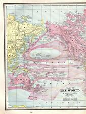 1890 Antique World Map Vintage Map of The World Gallery Wall Art #4242