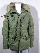 RALPH LAUREN D&S Military Down 640 Fill Parka Snorkel Jacket Army Green sz XXL