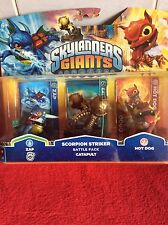 Skylanders Giants: Zap, Catapult,Hotdog - Action Figure Triple Pack NEW