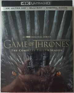 NEW GAME OF THRONES: THE COMPLETE EIGHTH SEASON 4K ULTRA HD BLU RAY 6 DISC SET