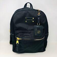 ADRIENNE VITTADINI Black Nylon Gold Backpack Large Luggage Tag