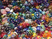 Random Mix Glass Millefiori Lampwork Cabochons Flatback Jewellery Making Oval