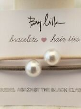Stackable Bracelet/Hair Ties With Faux Pearl