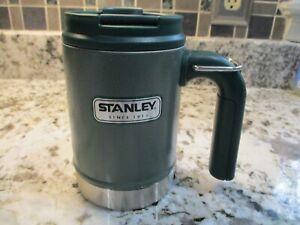 Insulated STANLEY 16 oz Coffee Travel Cup Mug w/ Screw on Lid - Green