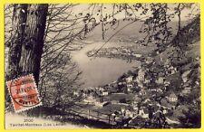 cpa SUISSE Cachet TRAIT BON PORT 1908 TERRITET MONTREUX à Berthe BOURGEOT, DIJON