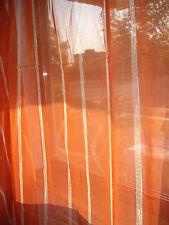 Gardinen Stoff Store Orange mit Beige. Meterware auf Ballen