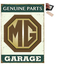 MG Garage Genuine Parts Metal Wall Art Sign Plaque - New